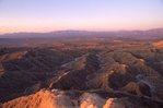The Borrego Badlands at Sunrise