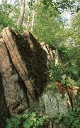 Eroded Cliffs along the Appalachian Trail, North of Little Bald