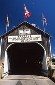 The Entrance to the World's Longest Covered Bridge (1,282'), Saint John River