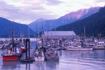 The Bella Coola Harbour at Sunset