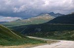 The Haines Highway near Three Guardsmen Pass