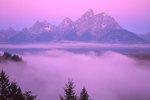 Fog Fills the Snake River Valley before Sunrise