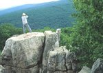 Chimney Rock with hiker