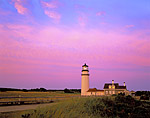 Highland Light - renamed Cape Cod Light and the Queen Anne style keeper's house (1854) illuminated by the colors of predawn light