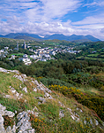 Village of Clifden with the Twelve Bens mountains in the distance