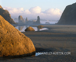 Late light on the tide pools & seastacks of Bandon Beach