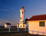 Evening light on Point Wilson Lighthouse, Fort Worden State Park, Quimper Peninsula, Puget Sound