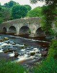 County Wicklow, Ireland: Avonmore River flows beneath the Clara Bridge (1733) in the Vale of Clara