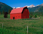 Wallowa County, OR: The Buckles Barn near Hurricane Creek in the Wallowa Valley under the Wallowa Mountains