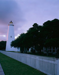 Cape Hatteras National Seashore, NC: Ocracoke Island Lighthouse (1823) in evening light