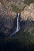 Yosemite National Park, CA: Bridalveil Falls in the Yosemite Valley, from the overlook at Tunnel View