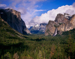 Yosemite National Park, CA: Clearing storm clouds over Yosemite Valley from Tunnel View