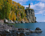 Split Rock Lighthouse State Park, MN: Split Rock Lighthouse stands above Lake Superior in early fall