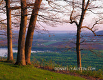 Wyalusing State Park, WI: Spring trees on bluff overlooking the Wisconsin River Valley near Prairie du Chien