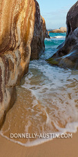 Virgin Gorda, British Virgin Islands in the  Caribbean Narrow pool among the granite boulders on the beach known as The Crawl in Spring Bay National Park