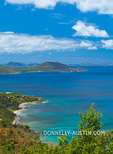 Virgin Gorda, British Virgin Islands, Caribbean: View of Tortola across the Sir Francis Drake Channel from the north end of Virgin Gorda