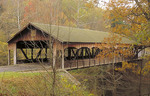 Covered bridge in the Fall. Taken at Mohican State Park.