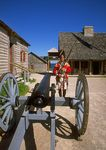 Soldier at Fort Michilimackinac.