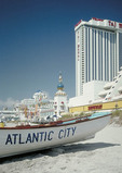 World famous beach and casinos at Alantic City.