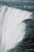 Close up of Canadian Falls at Niagara Falls.