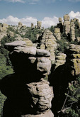 Rock formations at Chiricahua National Monument in Arizona.