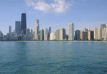 Chicago skyline from the lake.