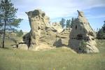 Medicine Rocks State Park in Montana.