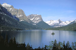Lake Saint Mary Glacier National Park late Spring.