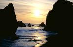 Sunset at El Matador Beach.