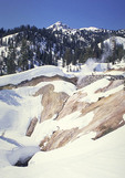 Sulpher works in the winter at Mt. Lassen Natinal Park.
