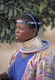 South African female tribal dancer