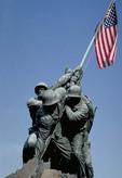 Marine Corps War Memorial Flag Raising At Iowa Jima