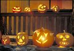 Jack-o-Lantrens ready for Halloween