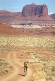 Mountain biker riding in Canyonlands National Park