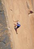 rock climber on shear face