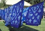 Batik factory drying prints in the sun