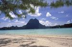 Beautiful beach in Bora Bora.