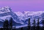 Sunrise on Icelands Parkway in Banff National Park