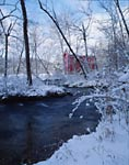 Alley Springs in the winter with Mill