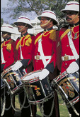 Welcome to Bermuda drummers of the Bermuda Regiment Band