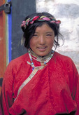Native woman in Tibet, China