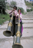 Lhasa Long Horn players at the Potala Palace in Tibet