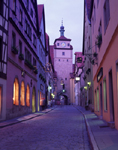 Night street scene in Rothenburg