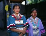 Alabama Chouchatta Indian maidens between dances.