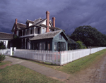 Jeff Davis Colonial Mansion with thunder storm approaching