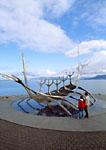 """Sculpture """"Sun Craft"""" Viking Ship by Jon Gunnar Amason"""