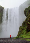 People at Skogafoss Falls