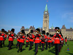 Changing of the guard before Parliament in Ottawa