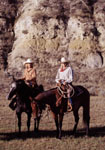 American Cowgirls with horses