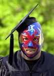 Graduate with mask